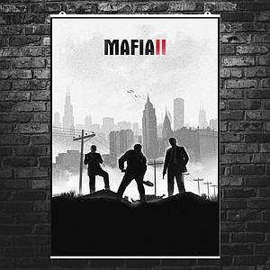 """Постер """"Mafia 2, Мафия 2. Минималистичный постер"""". Размер 60x41см (A2). Глянцевая бумага"""