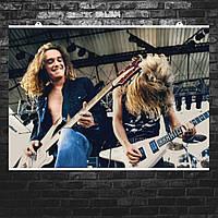 """Постер """"Cliff Burton, Кліфф Бертон"""". Metallica, ретрофото. Розмір 60х43см (A2). Глянцевий папір"""