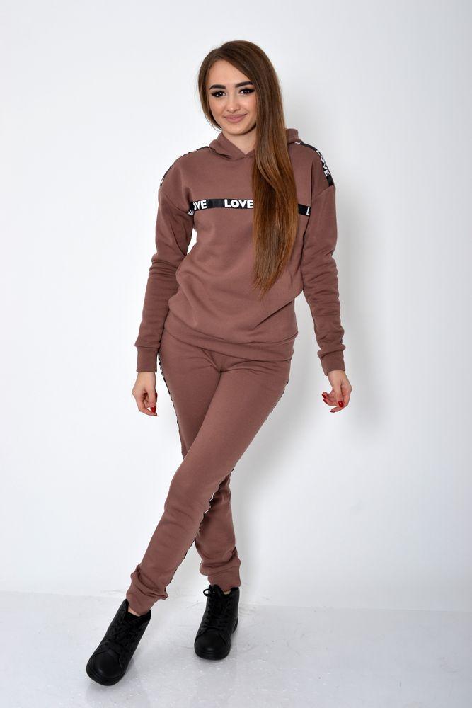 Спорт костюм женский цвет Коричневый