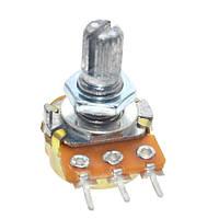 Резистор переменный, потенциометр WH148 B10K линейный 15мм 10кОм