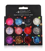 Набор декора для ногтей Starlet Professional, конфетти ассорти, st-06 12 шт