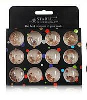 Декор для ногтей Starlet Professional, стразы, фигурки ракушки, 1400 шт