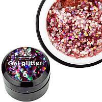 Glitter Gel Global Fashion №6, 5 г лазурный