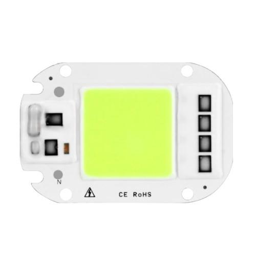 Светодиодная матрица с драйвером COB LED 50Вт 4500лм 220В, зеленая