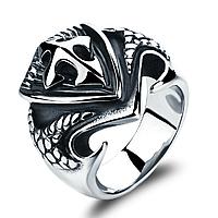 Кольцо мужское из нержавеющей стали , фото 1