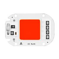 Светодиодная матрица с драйвером COB LED 50Вт 4500лм 220В, красная