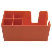 Органайзер барный на 5 ячеек пластиковый, оранжевый 50х25 см. The Bars