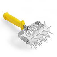 Валик-рыхлитель для теста Hendi Lilly Codroipo, с пластиковой ручкой , 11х25 см., желтый (515051)