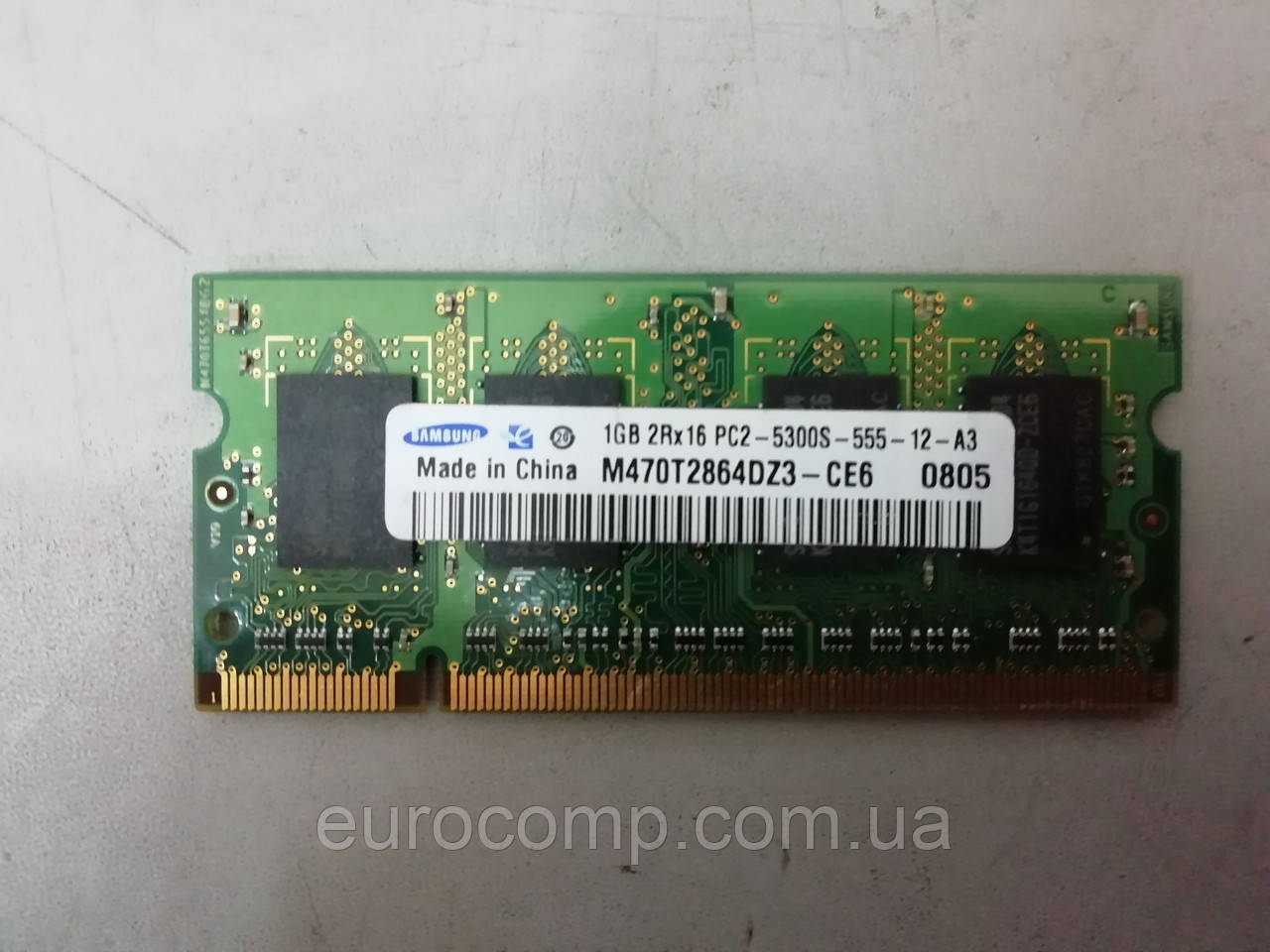 Оперативная память б/у Samsung SODIMM DDR2-667 1GB PC2-5300 (M470T2864DZ3-CE6)