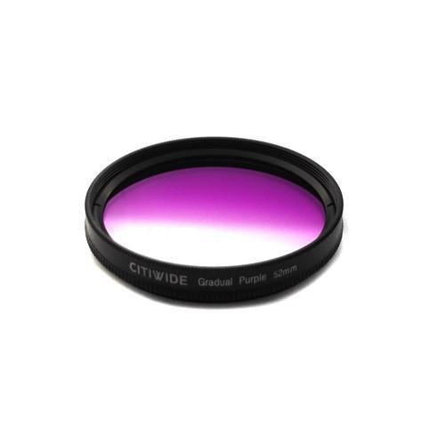 Цветной фильтр 52мм фиолетовый градиент, CITIWIDE