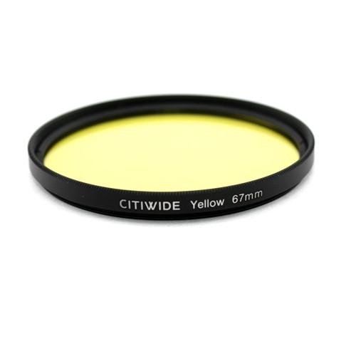 Цветной фильтр 67мм желтый, CITIWIDE