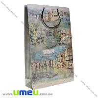 Подарочный пакет из крафт бумаги, 39х26х8,5 см, Венеция, 1 шт (UPK-019039)