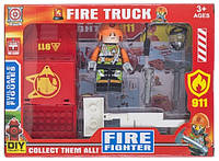 Игрушечный набор Space Baby фигурка-конструктор из авто и аксессуарами серии Fire truck