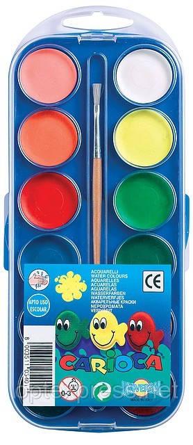 Краски акварельные 12 цветов CARIOCA