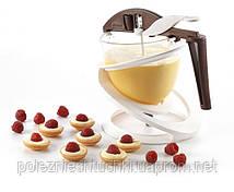 Лейка-Дозатор кондитерский для соусов, теста, шоколада 13х14 см. пластик, на подставке Silikomart