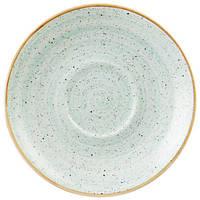 Блюдце круглое 15,6 см. фарфоровая, голубая Stonecast Duck Egg Blue, Churchill
