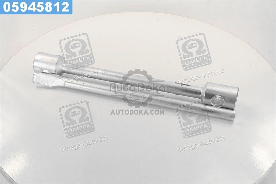 ⭐⭐⭐⭐⭐ Ключ балонный для грузовиков d=22, 32х33х395мм, с воротком (Дорожная Карта)  dk2819-3233