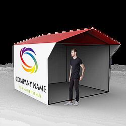 Торговая ПВХ палатка 3 × 3 с печатью
