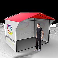Торговая ПВХ палатка 3*2 с печатью