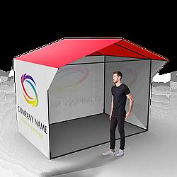 Торговая ПВХ палатка 3 × 2 с печатью