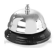 Звонок на ресепшн 8,5х6 см. хромированная сталь APS