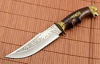 Нож охотничий Медведь сделано в Украине, ручная работа, кожаный чехол и паспорт
