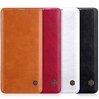 Кожаный чехол (книжка) Nillkin Qin Series для Samsung Galaxy S10(2 цвета)