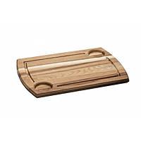Доска деревянная для подачи блюд 34х24 см. с углублениями под соуники Древо