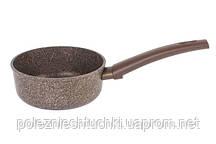Ковш Биол Granite Brown антипригарный 1 л, 16х7 см. алюминиевый со съемной ручкой (10193Р)