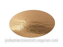 Подложка для торта круглая 23 см., 100 шт/уп золотая
