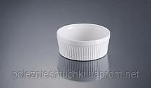 Форма для крем-бруле, суфле 8 см., 120 мл. фарфоровая, белая ALT PORCELAIN