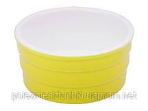 Форма для выпекания фарфоровая 4 см. желтая