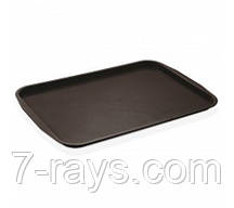 Поднос прямоугольный 31х41см, поликарбонат коричневый, Fast Food, GastroPlast