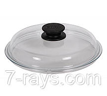 Крышка Биол высокая круглая Ø24 см. стеклянная с ручкой, прозрачная (ВК240)
