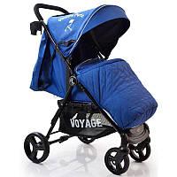Детская прогулочная коляска книжка  Quattro Porte QP-234 Blue.