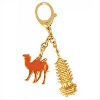 Амулет брелок Золотая Пагода с Верблюдом
