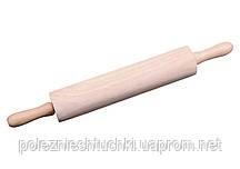 Скалка дерево 33 см. с вращающимися ручками Winco