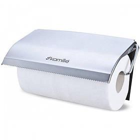 Держатель для бумажных полотенец Kamille d-26,5 х 13,5 х 5 см из хромированной стали KM-8818