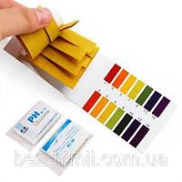 Лакмусовий папір 80 шт. (тест pH) для визначення кислотно-лужного показника рідкої середовища., фото 1