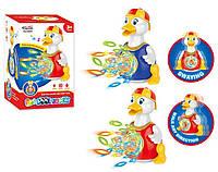 Музыкальная развивающая игрушка утка 0565C 2 цвета, Музыкальная развивающая игрушка , светящ , проектор, батар ,в коробке 14*13*22