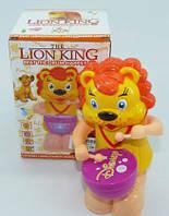 Музыкальная развивающая игрушка животное 3269-8 (1143491) Лев,свет,звук,в коробке 12*11*18см