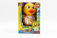 Музыкальная развивающая игрушка цыпленок KT11A батар, звук, ходит, свет, в коробке, 19*13*11 см