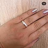 Кольцо с золотом и белыми фианитами в серебре Клара, фото 2