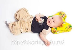 Детская ортопедическая подушка Бабочка  для новорожденных