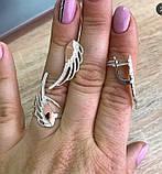 Гарнитур серебро с золотом и фианитами Крыло, фото 3