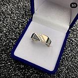 Печатка в серебре с золотом и ониксом Шон, фото 2