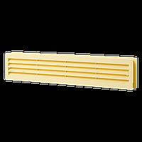 Решетка вентиляционная прямоугольная Домовент ДВ 430/2 бежевая, 80х434 мм