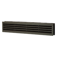 Решетка вентиляционная прямоугольная Домовент ДВ 430/2 коричневая, 80х434 мм