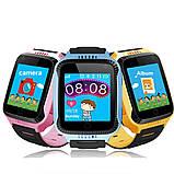Детские смарт-часы с GPS трекером SK-004/G900A yellow, фото 3