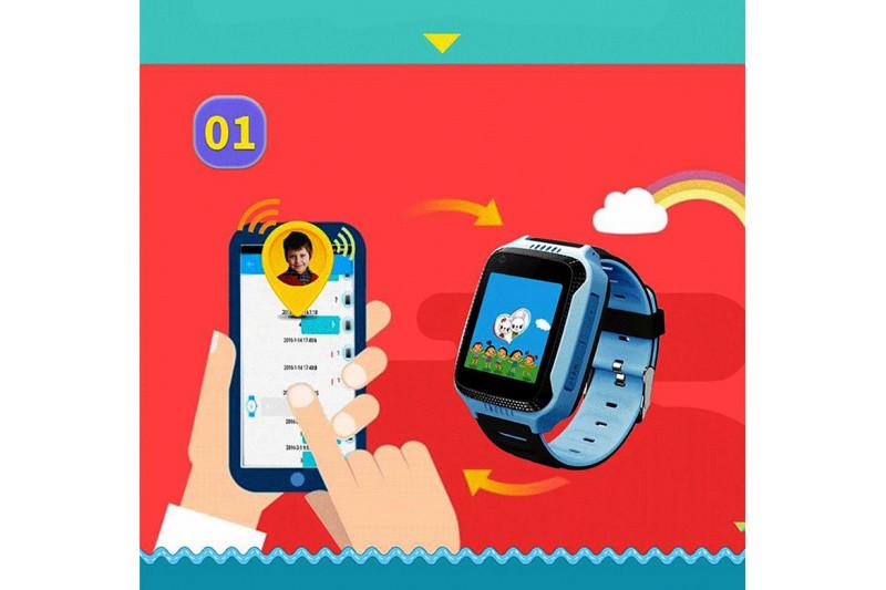 Детские смарт-часы с GPS трекером SK-004 G900A yellow Желтый